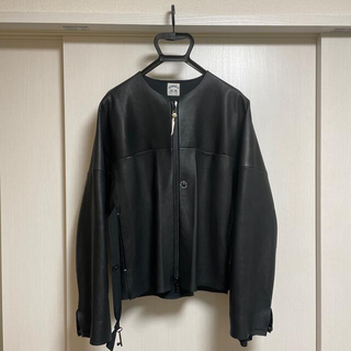 SUNSEA - SUNSEA 19ss LEATHER BLOUSON