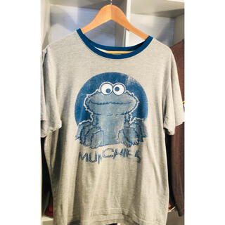 セサミストリート(SESAME STREET)の古着屋購入キャラTシャツセサミストリートクッキーモンスターL位レディースでも◎(Tシャツ(半袖/袖なし))