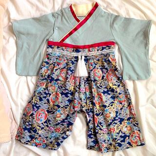 サイズ70袴風ロンパース(和服/着物)