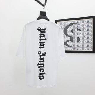 パーム(PALM)のPalm Angels Tシャツ 半袖 プリント トレンド メンズ  ホワイト(Tシャツ/カットソー(半袖/袖なし))