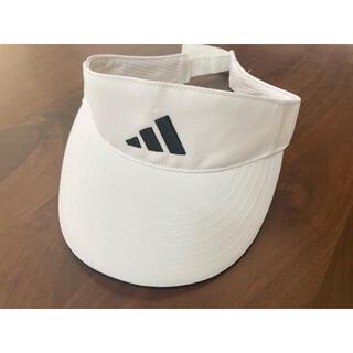 アディダス(adidas)のアディダス サンバイザー 美品 ホワイト(その他)