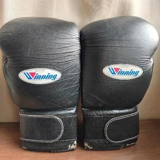 ボクシンググローブ&ヘッドギア(ウィニング、16オンス&Lサイズ)(ボクシング)