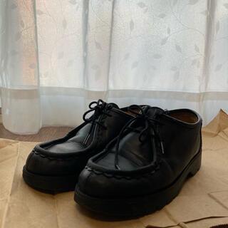 パラブーツ(Paraboot)のKLEMAN PADRE 38 24cm 24.5cm クレマン 革靴 黒(ローファー/革靴)