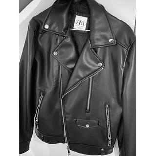 ザラ(ZARA)のZara Leather Jacket M(レザージャケット)