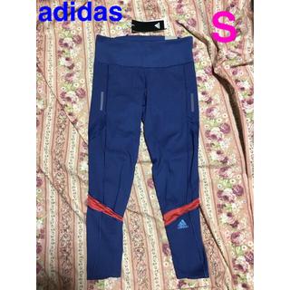 アディダス(adidas)のadidas スパッツ レギンス レディース S ブルー ランニング ナイキ(ウェア)