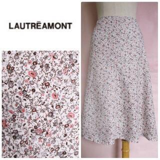 LAUTREAMONT - 最終処分セール【ロートレアモン】上品小花柄スカート☆フレアスカート☆ボタニカル柄