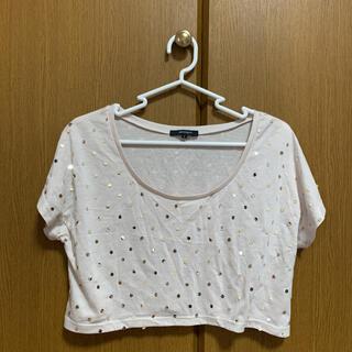 マーキュリーデュオ(MERCURYDUO)のマーキュリーデュオ スパンコール Tシャツ カットソー ♬︎♡(Tシャツ(半袖/袖なし))