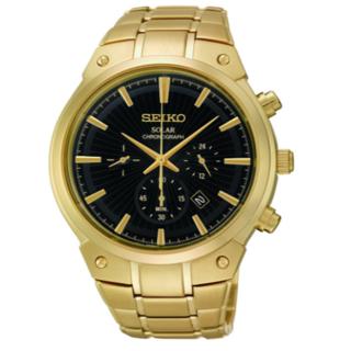 セイコー(SEIKO)のセイコー メンズ SSC320 ソーラーアナログクォーツ ゴールドウォッチ(腕時計(アナログ))