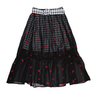 リルリリー(lilLilly)のリップスカート(ロングスカート)
