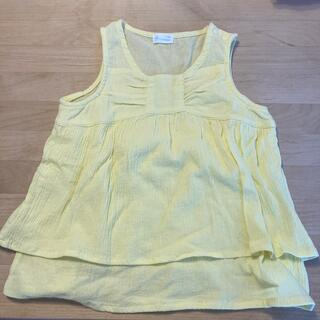 コンビミニ(Combi mini)のコンビミニ  カットソー  ノースリーブ レモンイエロー 100サイズ(Tシャツ/カットソー)