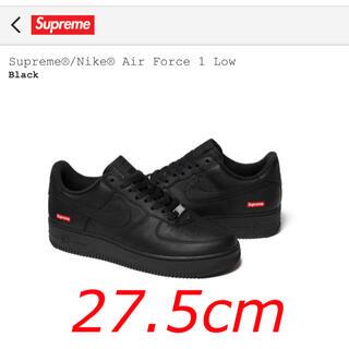 シュプリーム(Supreme)のsupreme nike air force 1 black 黒 27.5cm(スニーカー)