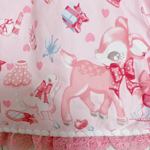 Angelic Pretty(アンジェリックプリティー)のレア!Angelic Pretty 小鹿のミルキーちゃん jsk  レディースのワンピース(ひざ丈ワンピース)の商品写真