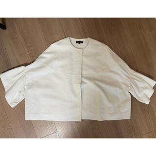 Drawer - 値下げdrawerドゥロワーホワイト袖フリルジャケット