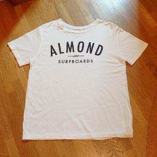 アーモンド(ALMOND)のももるる様専用■ALMOND SURF/Tシャツ 白■Saturdaysピンク■(Tシャツ/カットソー(半袖/袖なし))