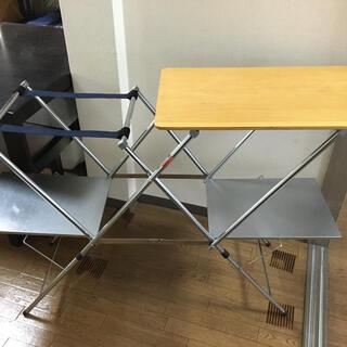 ユニフレーム(UNIFLAME)のユニフレーム キッチンスタンドII ウッド天板 おまけ(別売トート)付(テーブル/チェア)
