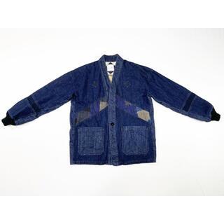 ヴィスヴィム(VISVIM)の21SS FURY デニム&古布パッチワーク着物ブルゾンシャツ(ブルゾン)