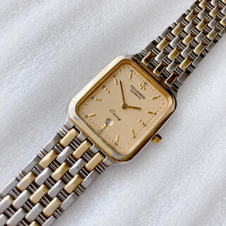 TECHNOS - TECHNOS テクノス メンズクォーツ腕時計 稼動 腕周り18cm