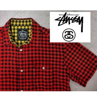 ステューシー(STUSSY)の【00年代】 STUSSY ステューシー 半袖シャツ チェックシャツ フランネル(シャツ)