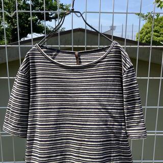 ヌーディジーンズ(Nudie Jeans)のnudie jeans ボーダー tシャツ ネイビー×クリーム(Tシャツ(半袖/袖なし))