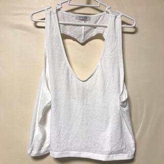 スピンズ(SPINNS)のスピンズ  背中ハート ノースリーブ トップス(Tシャツ(半袖/袖なし))