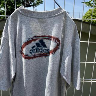 アディダス(adidas)のadidas プリント tシャツ グレー ビッグシルエット vintage(Tシャツ(半袖/袖なし))