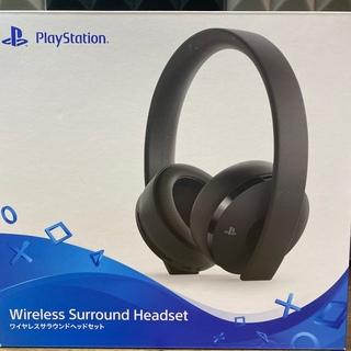 プレイステーション4(PlayStation4)のワイヤレスサラウンドヘッドセット【SONY純正】(ヘッドフォン/イヤフォン)