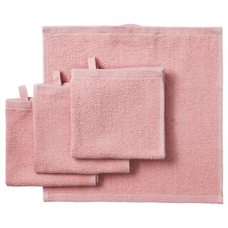 イケア(IKEA)のIKEA  タオルハンカチ 4枚 セット ピンク イケア(タオル/バス用品)
