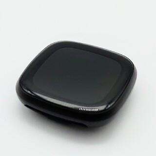 未使用に近い美品 fitbit versa3 ブラック 本体のみ(腕時計(デジタル))