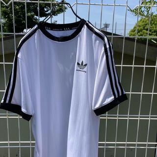 アディダス(adidas)のadidas トレフォイル リンガー tシャツ 白×黒 (Tシャツ(半袖/袖なし))