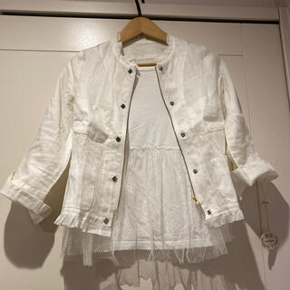 イエナ(IENA)のリネンジャケット 未使用 白 シャツジャケット(ノーカラージャケット)