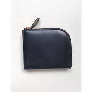 エッティンガー(ETTINGER)の新品 正規品 エッティンガー ETTINGER L字財布 ネイビー 定価4.1万(折り財布)