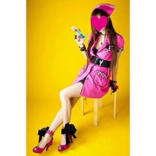 コスプレ衣装「空中ブランコ」マユミ ウィッグ 付き セット ハロウィン ナース(衣装一式)