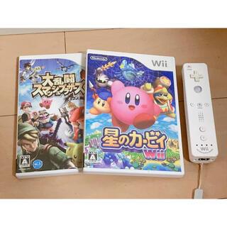 ウィー(Wii)のWiiコントローラー ソフト2本(家庭用ゲームソフト)