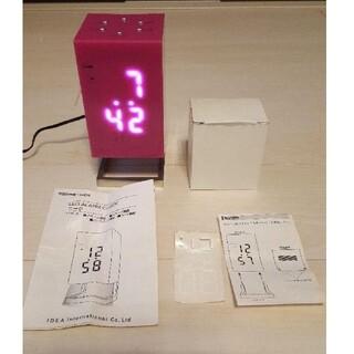 イデアインターナショナル(I.D.E.A international)のお値下げ☆IDEA LED ALARM CLOCK ニーク ピンク(置時計)