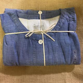 MUJI (無印良品) - 新品未使用 無印良品 脇に縫い目のない 細番手二重ガーゼ七分袖パジャマ 婦人