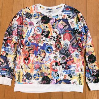 ディズニー(Disney)の日本未発売海外ディズニー限定レディース総柄Tシャツ(シャツ/ブラウス(長袖/七分))