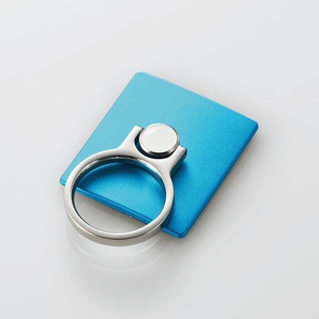ELECOM(エレコム)のスマートフォン用フィンガーリング(スタンダード)ブルー スマホ/家電/カメラのスマホアクセサリー(その他)の商品写真