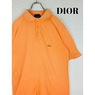 クリスチャンディオール(Christian Dior)の【Christian Dior 】ポロシャツ  オレンジ 胸刺繍◎ ワンポイント(ポロシャツ)