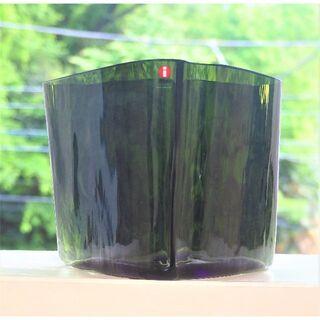 イッタラ(iittala)のアルヴァ アアルト 木型 ベース  モスグリーン イッタラ(花瓶)