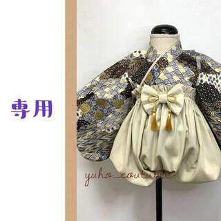 まいまい様専用 ベビー袴 ハンドメイド キッズ袴 端午の節句 和柄 (和服/着物)