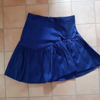 エイソス(asos)のASOS エイソス アシンメトリー スカート ブルー 青 M UK6(ひざ丈スカート)