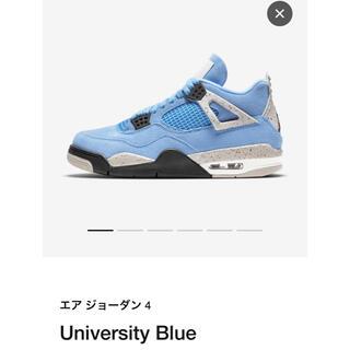 """ナイキ(NIKE)のNIKE AIR JORDAN4 RETRO """"UNIVERSITY BLUE""""(スニーカー)"""