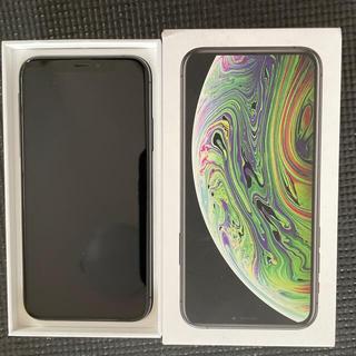 アイフォーン(iPhone)のiPhone xs 256gb sim free スペースグレイ 中古美品(スマートフォン本体)