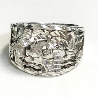 ☆SV925 手彫り透かし柄シルバーリング☆(リング(指輪))