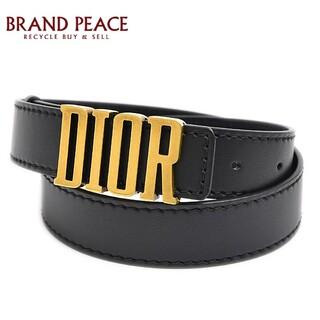 Dior - ディオール D-FENCE ロゴベルト レディース カーフ/メタル ブラック #