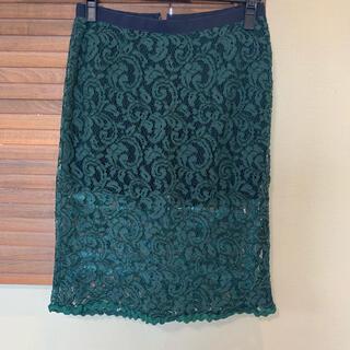 サカイラック(sacai luck)のsacai luck インナー付きスカート (ひざ丈スカート)