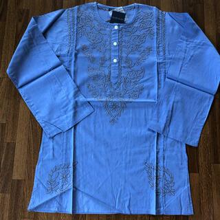 アンティックバティック(Antik batik)のANTIK BATIK刺繍 長袖カットソー M パープル(シャツ/ブラウス(長袖/七分))