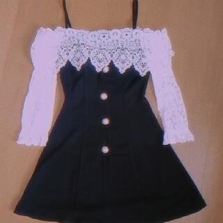 【tika】 キャバ♡ドレス Black/White꒰ ´͈ω`͈꒱♡(ミニドレス)