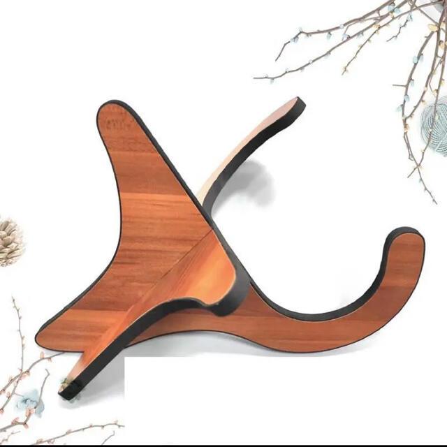 ギター ウクレレ スタンド 木製 ミニ 折りたたみ バイオリン 楽器  組立 軽 楽器のウクレレ(その他)の商品写真