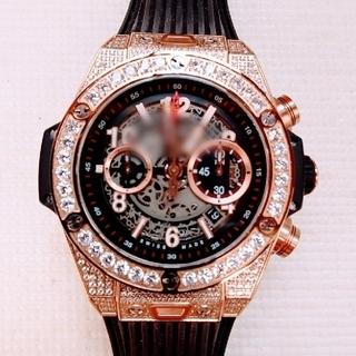 ウブロ(HUBLOT)の腕時計 Rゴールドダイヤ HB新品(腕時計(アナログ))